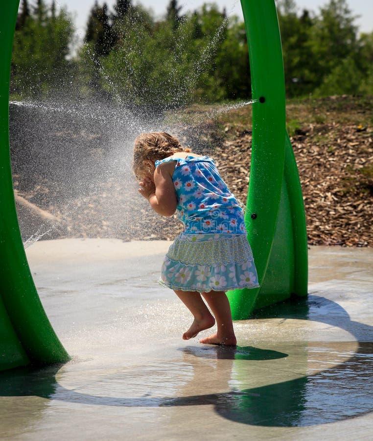 Spray Park stock photography