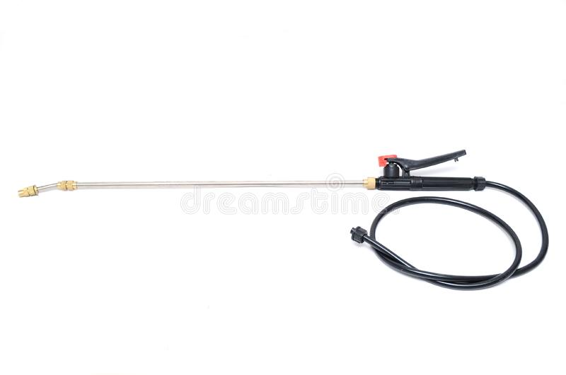 Spray spear for spraying vegetables and fruits stock image