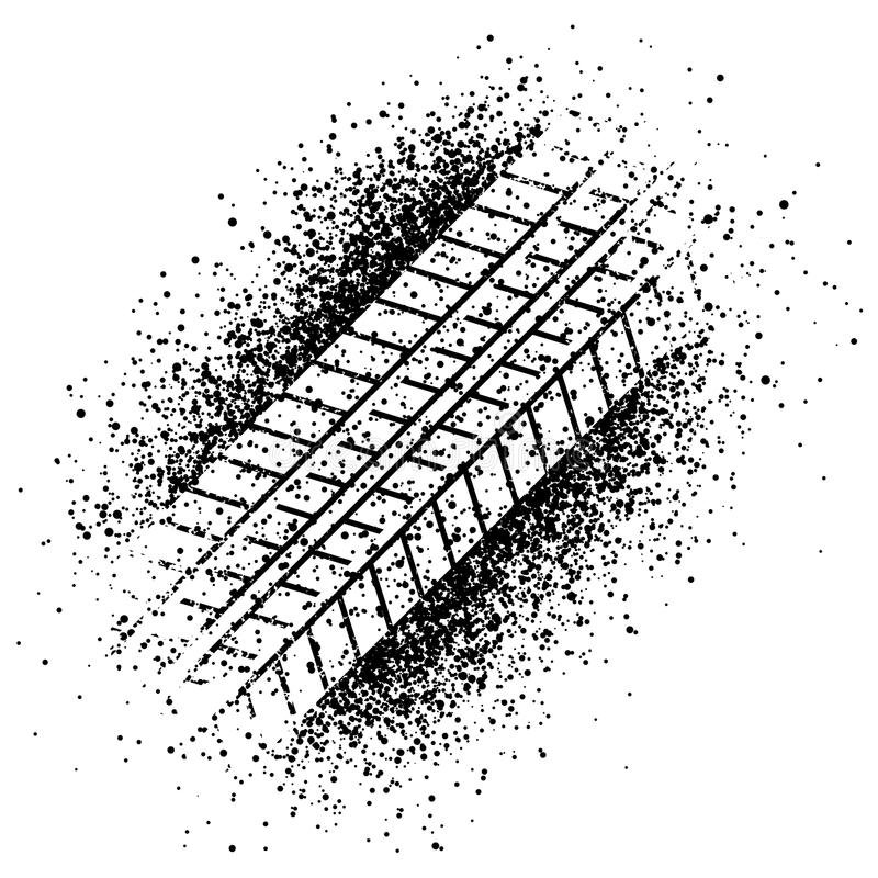 Spray trace of the tyre. Illustration for the web royalty free illustration