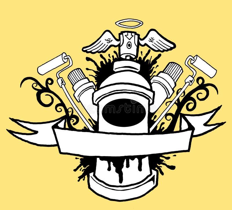 spray w för 01 b royaltyfri illustrationer
