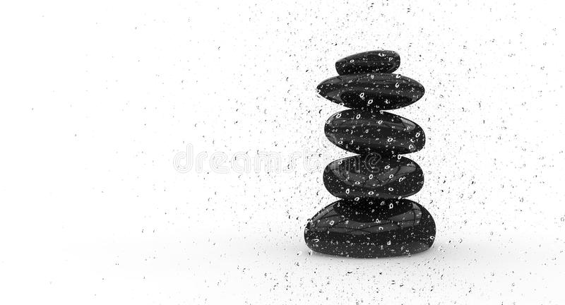 Download Spray Of Water On The Rocks Stock Illustration - Image: 28686720