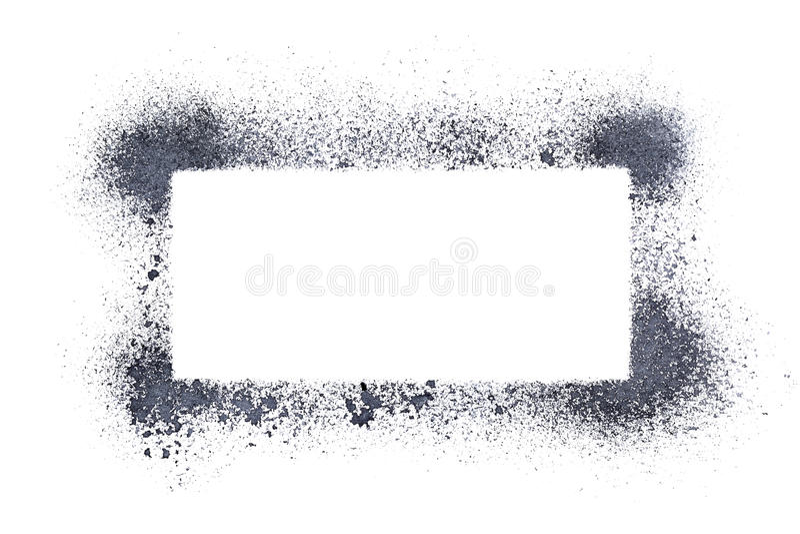 Sprayed stencil frame stock illustration