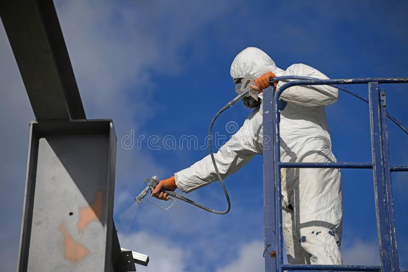 Spraying the beams royalty free stock image