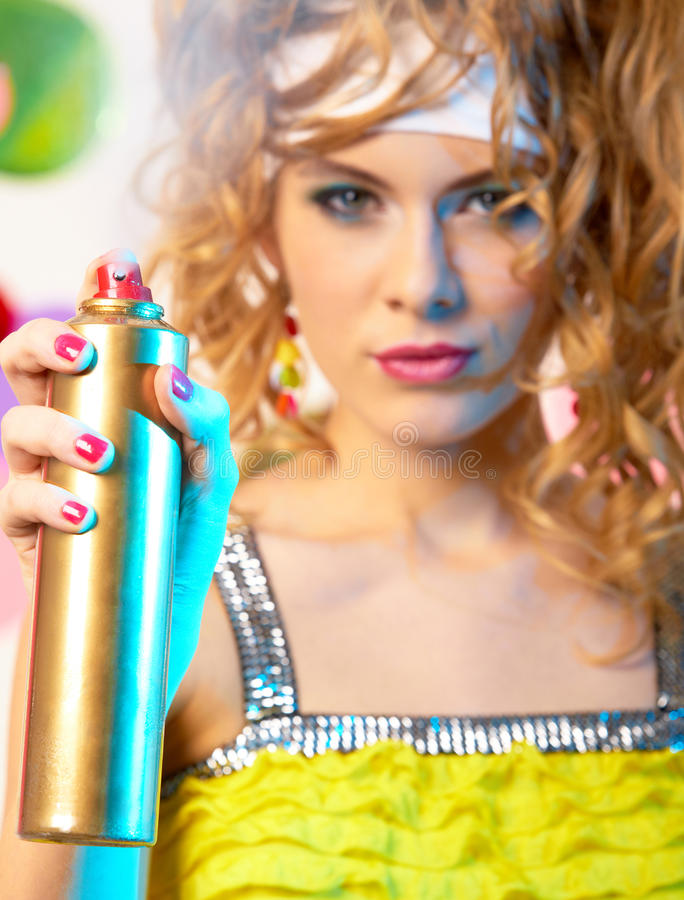 Download Spraying hair lacquer stock photo. Image of haircare - 16648700