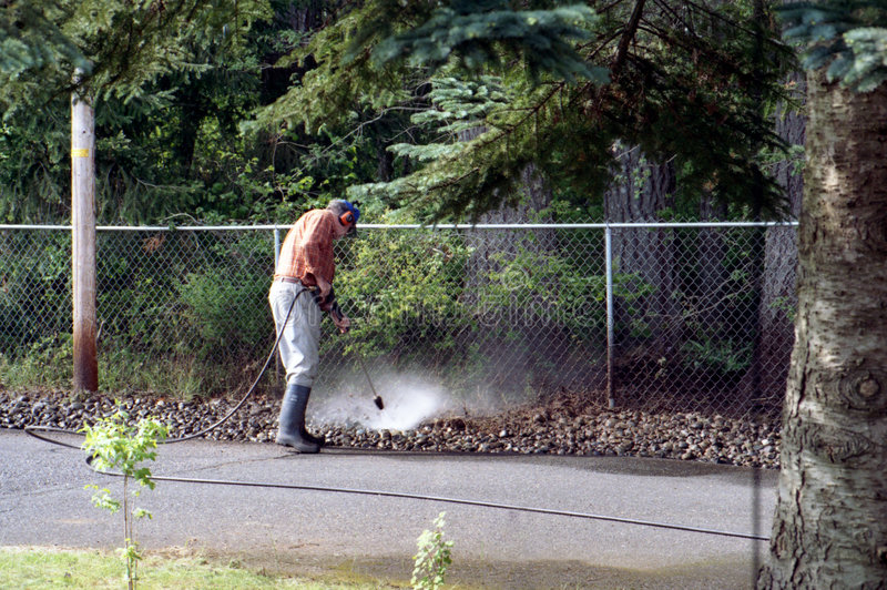 Spraying Weeds stock photography