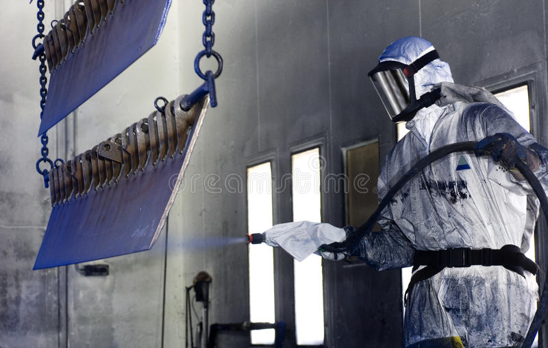 Spraymaler lizenzfreies stockfoto
