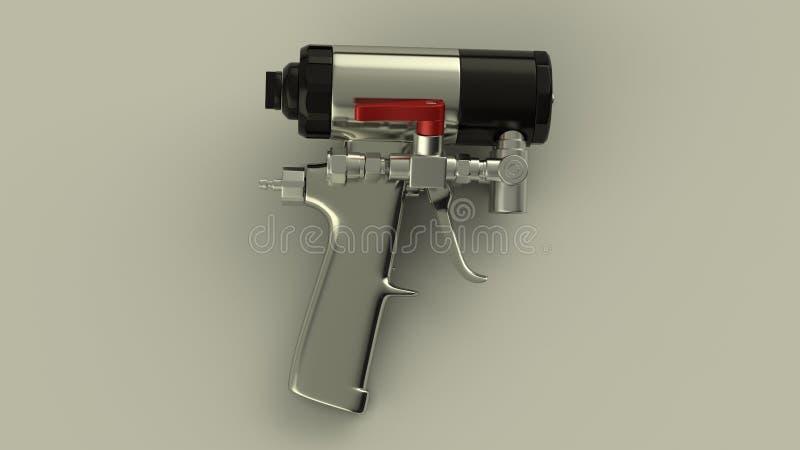 Sprayschaumgewehr lizenzfreie abbildung