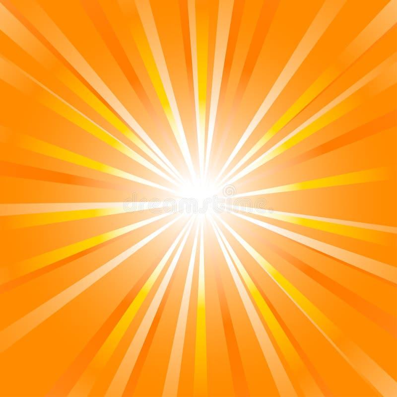 Sprazzo di sole di estate illustrazione vettoriale