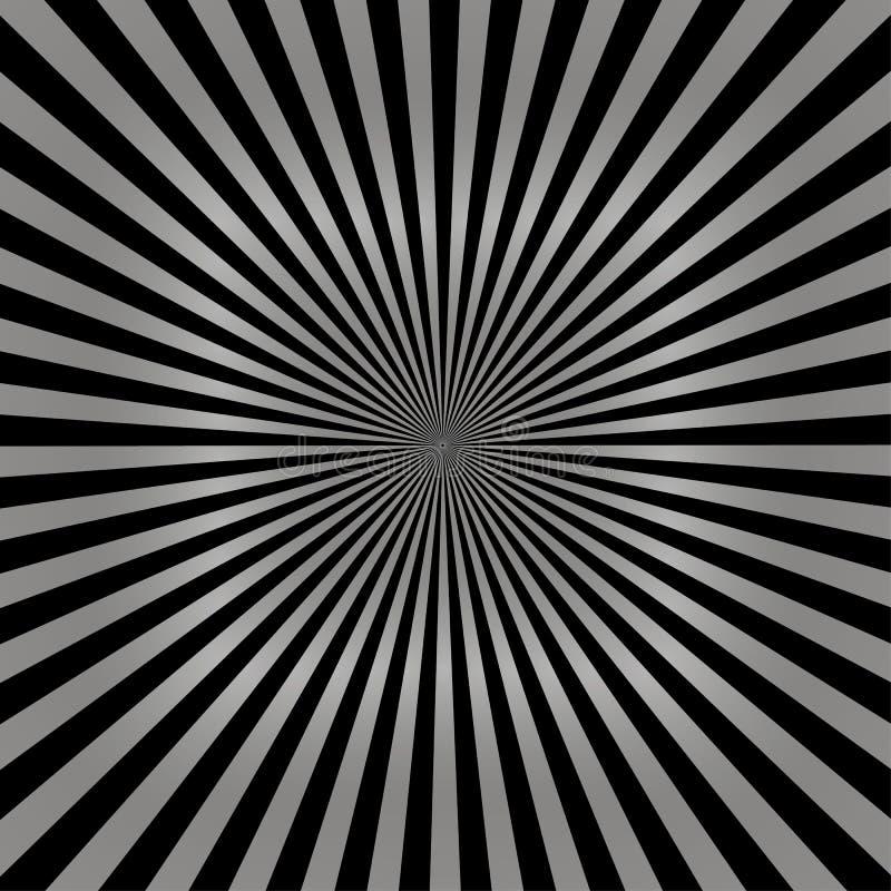 Sprazzo di sole grigio dei raggi del sole sul vettore nero eps10 del modello Fondo grigio e nero dello sprazzo di sole illustrazione di stock
