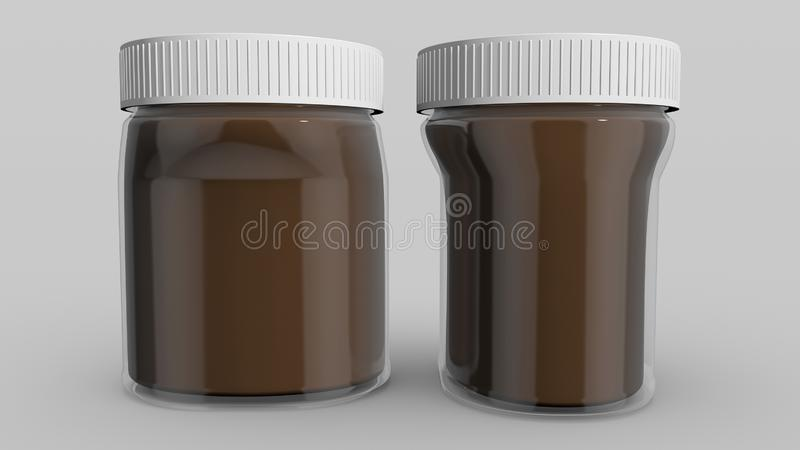 Spread. Chocolate and hazelnut spread, appreciated by children and adults alike stock illustration