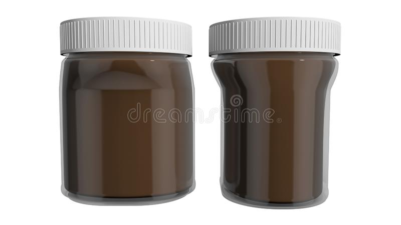 Spread. Chocolate and hazelnut spread, appreciated by children and adults alike vector illustration