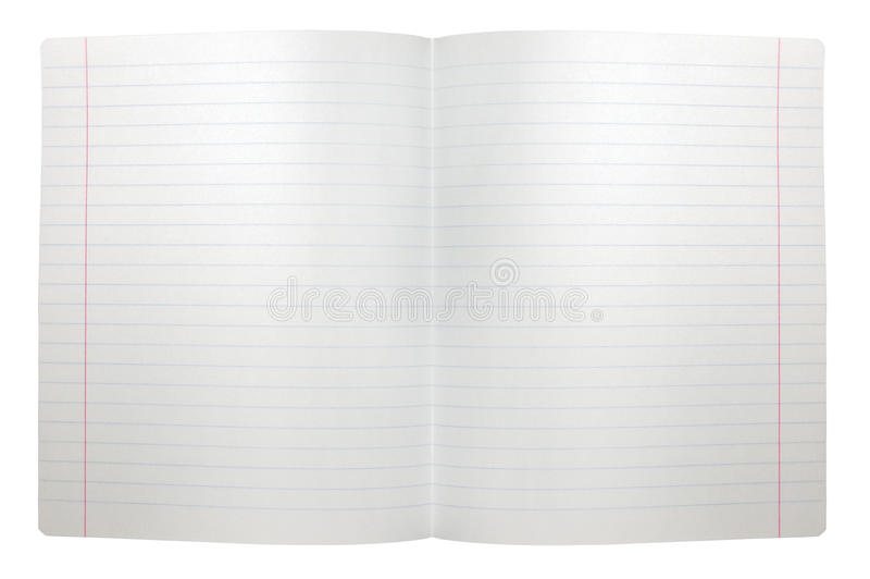 Spread Double Sheet Open Seamless Lined Note Paper Royalty Free Stock Images