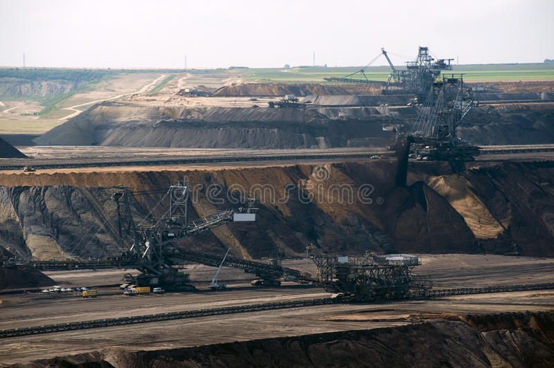 Spreader in the opencast. Garzweiler royalty free stock images
