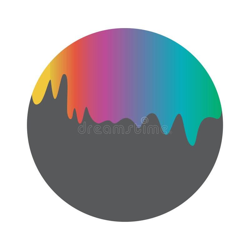 Rainbow emerging liquid royalty free illustration