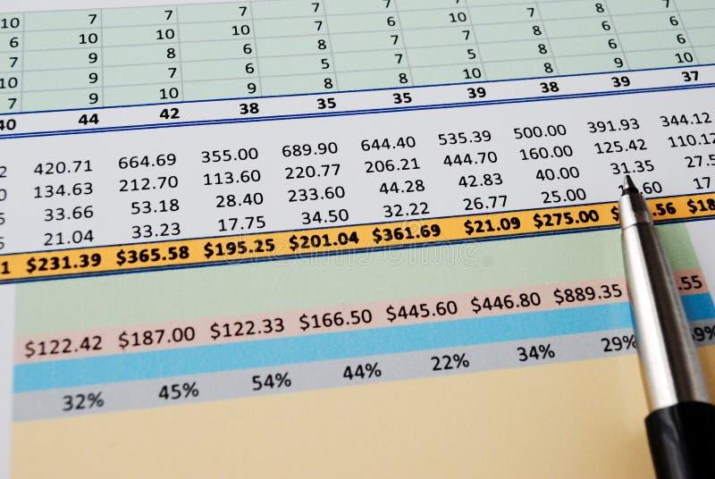 spreadsheet fotografia de stock royalty free
