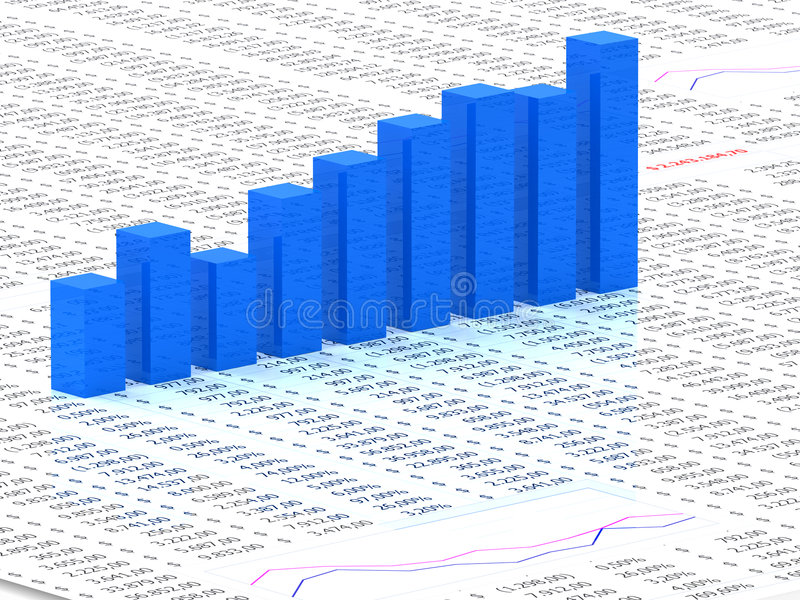 Download Spreadsheet With Blue Graph Stock Illustration - Illustration of background, money: 8359544