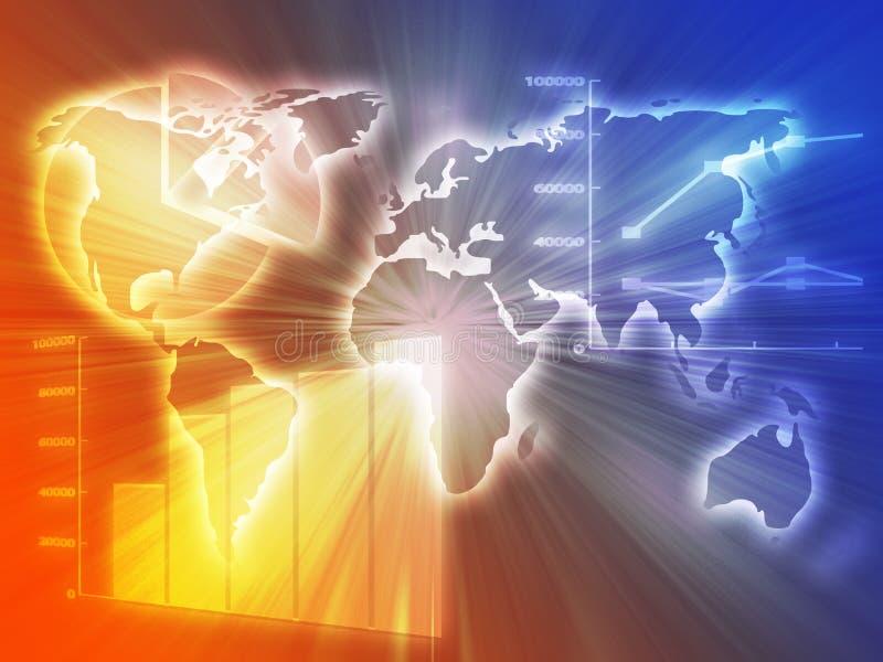 Spreadsheet business charts royalty free illustration