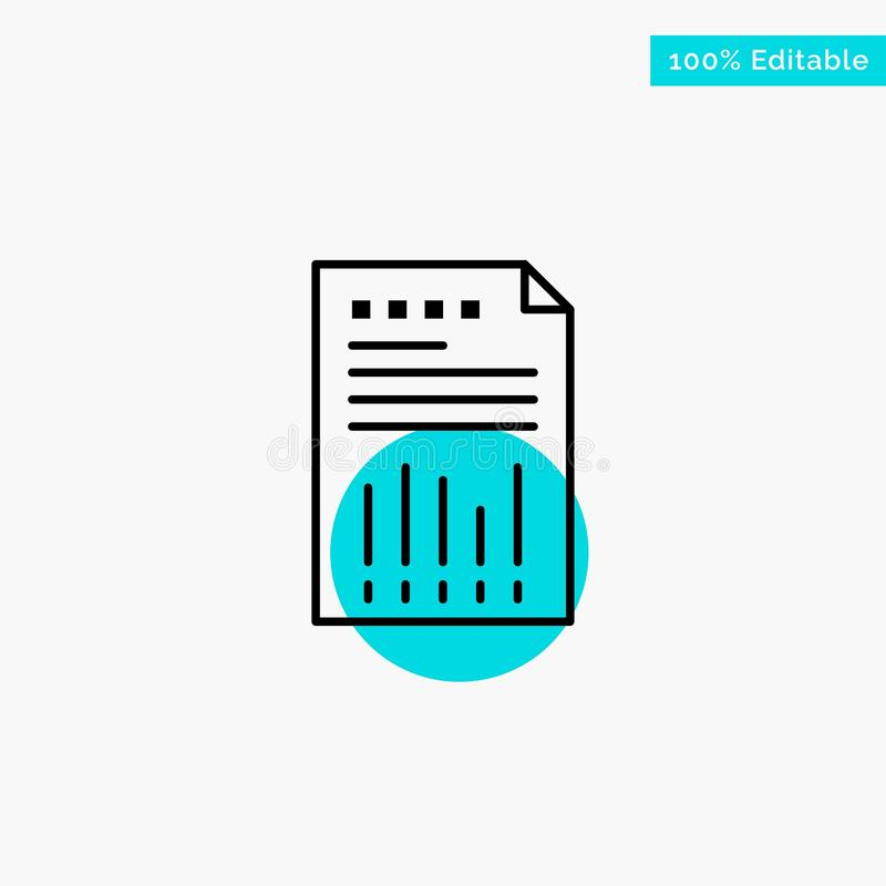 Spreadsheet, Business, Data, Financial, Graph, Paper, Report turquoise highlight circle point Vector icon vector illustration