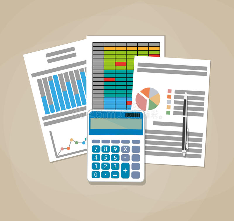 Spreadsheet concept. Business background. stock illustration