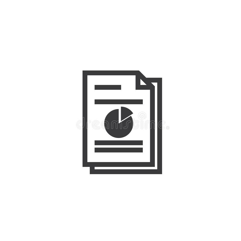 Spreadsheet document paper outline icon. isolated note paper icon in thin line style for graphic and web design. Simple flat symbo. L Pixel Perfect Illustration royalty free stock image