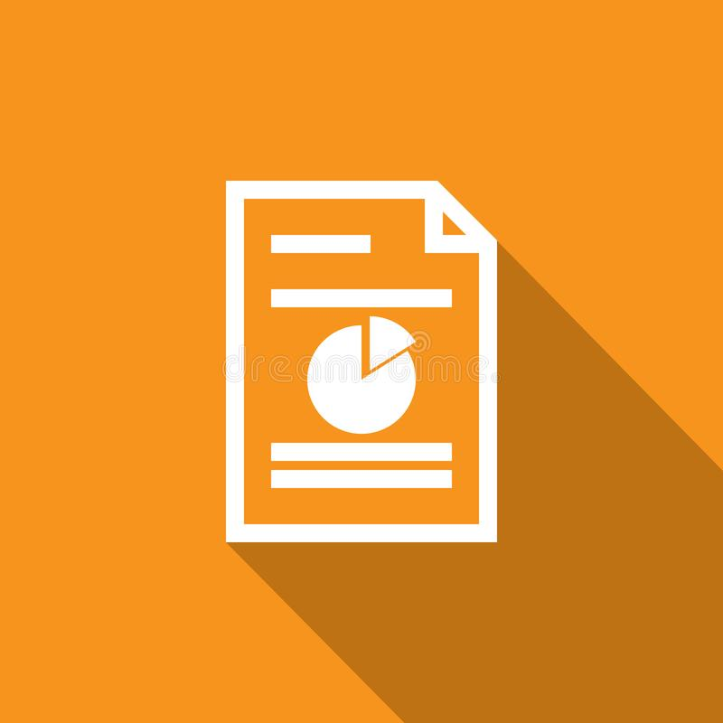 Spreadsheet document paper outline icon. thin line style for graphic and web design. Simple flat symbol vector Illustration. royalty free illustration