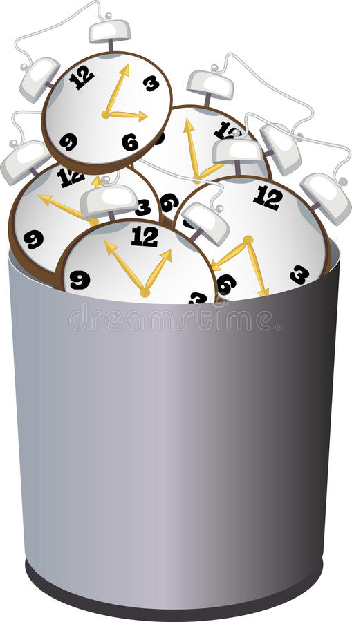 Sprecare tempo illustrazione di stock