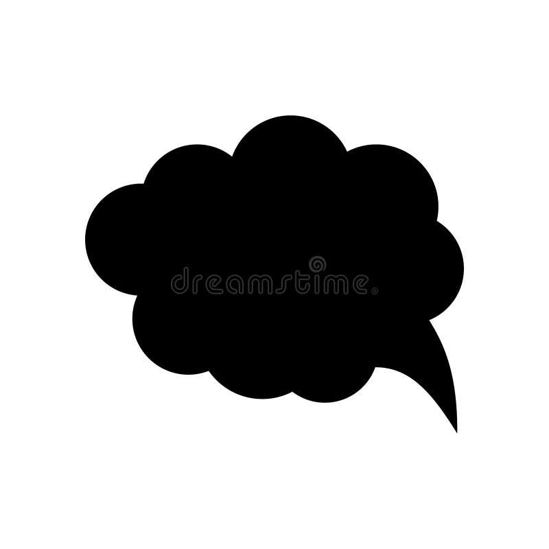 Sprechblasen-Vektorsymbol für Apps und Websites stockfotografie