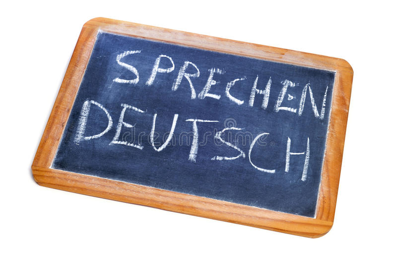 Sprechen deutsch, tedesco è parlato immagine stock