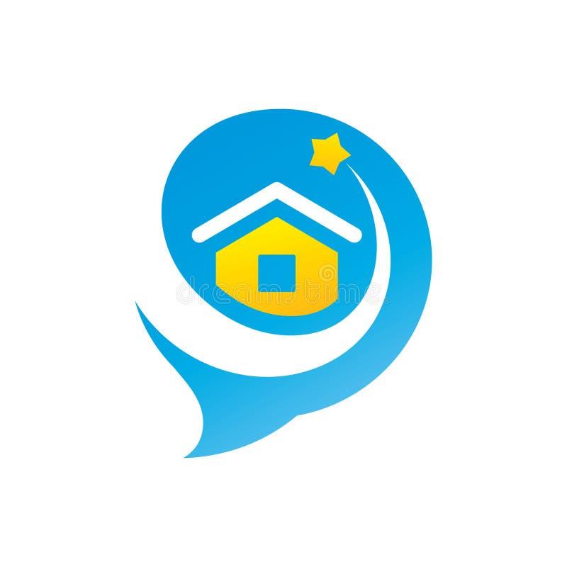 Sprechen Sie über Immobilienzeichen vektor abbildung