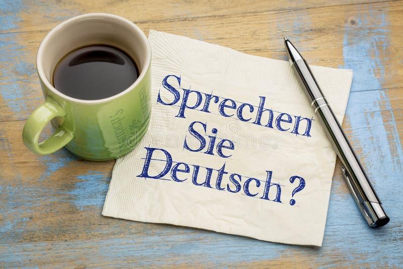 Sprechen Sie Deutsch? fotografia stock libera da diritti