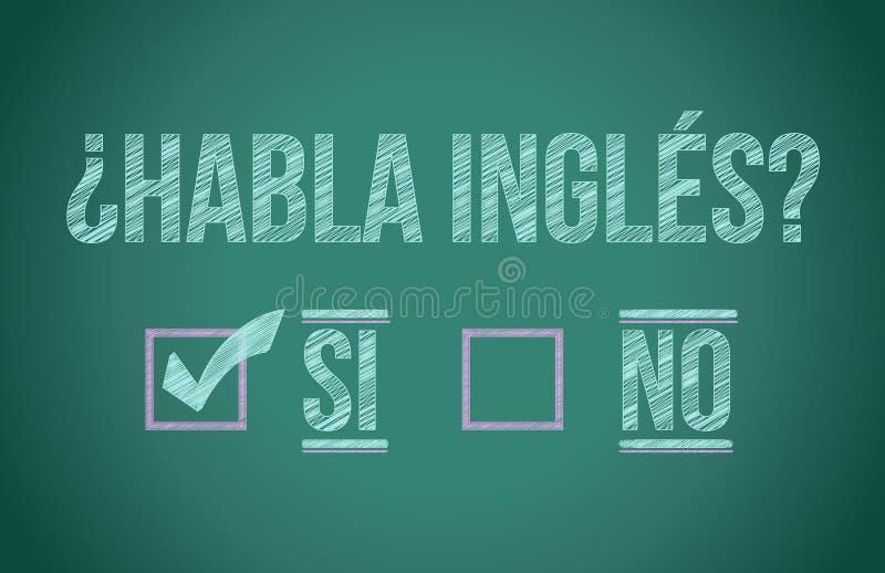 Sprechen Sie Englisch auf spanisch vektor abbildung
