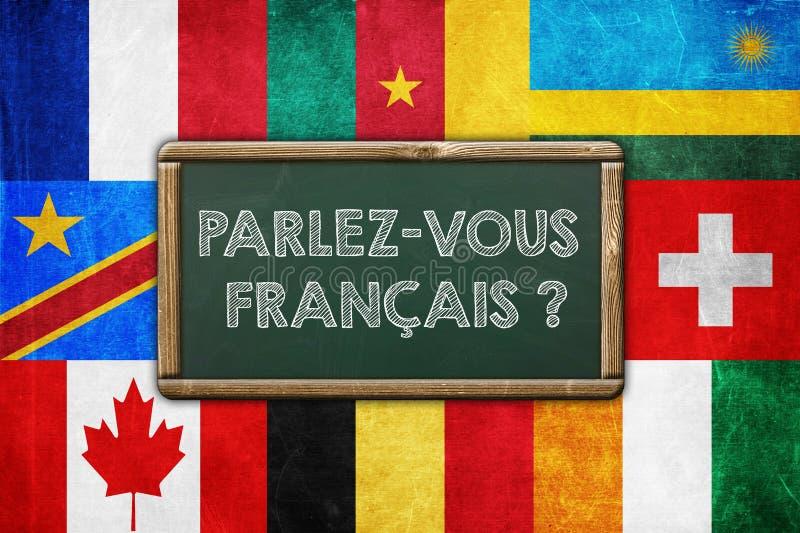 Sprechen Sie französisch lizenzfreie abbildung