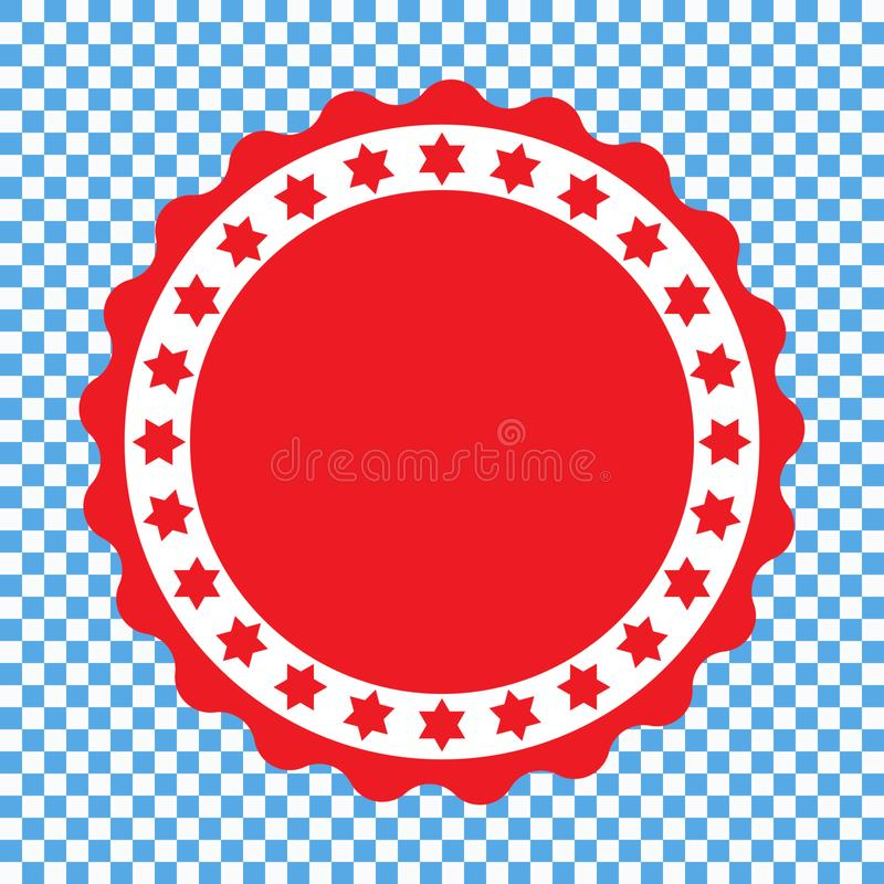 Sprechen Sie Ikone, rote Dichtungsikone, Aufkleber zu vektor abbildung