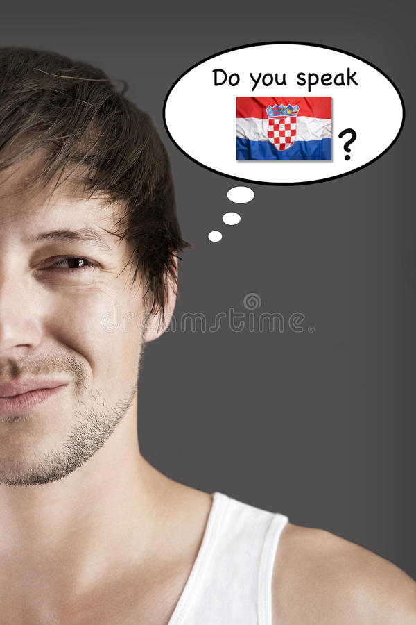 Sprechen Sie Kroatisch? lizenzfreies stockbild
