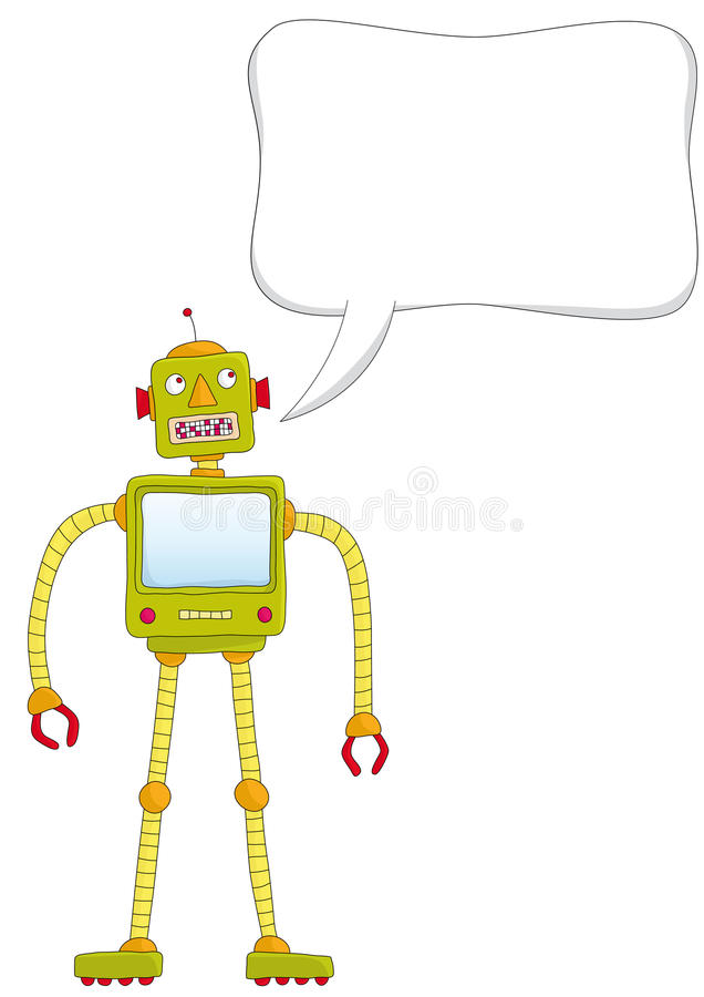 Sprechenroboter vektor abbildung