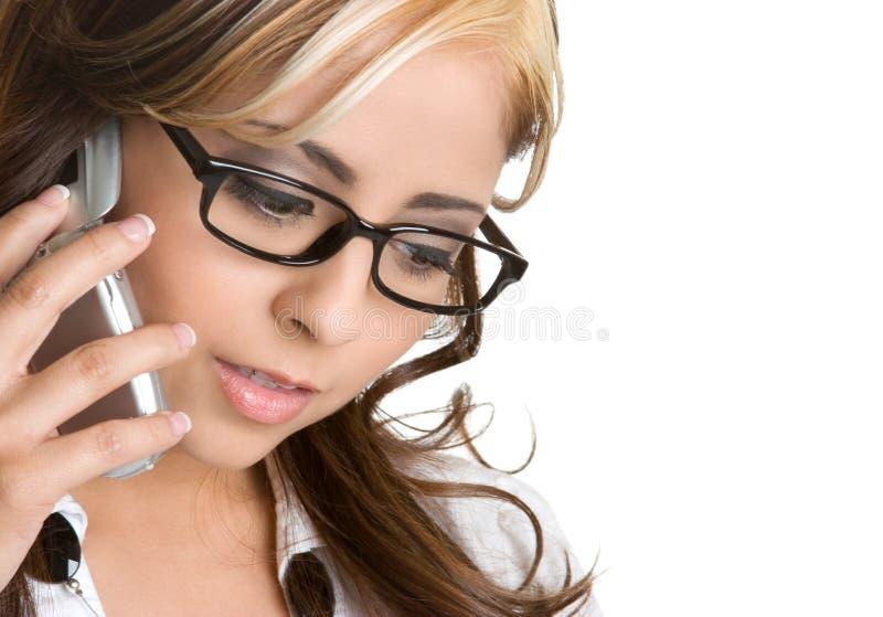 Sprechentelefon-Frau stockfoto