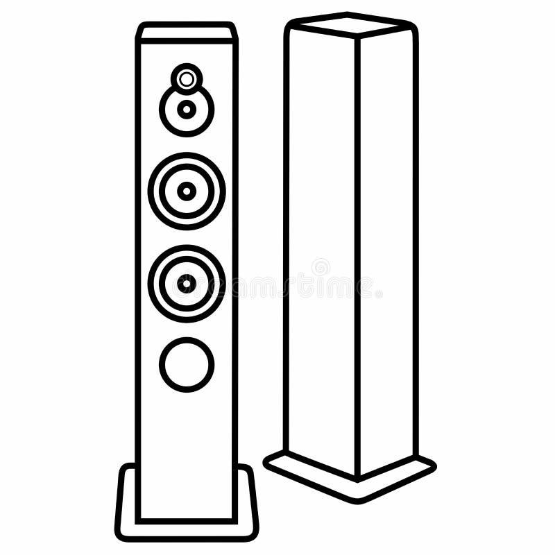 Sprecher Bass System Dynamics Sound Acoustics stockfoto
