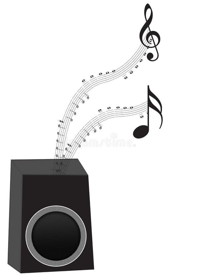 Sprecher mit Musikanmerkungen stockfoto