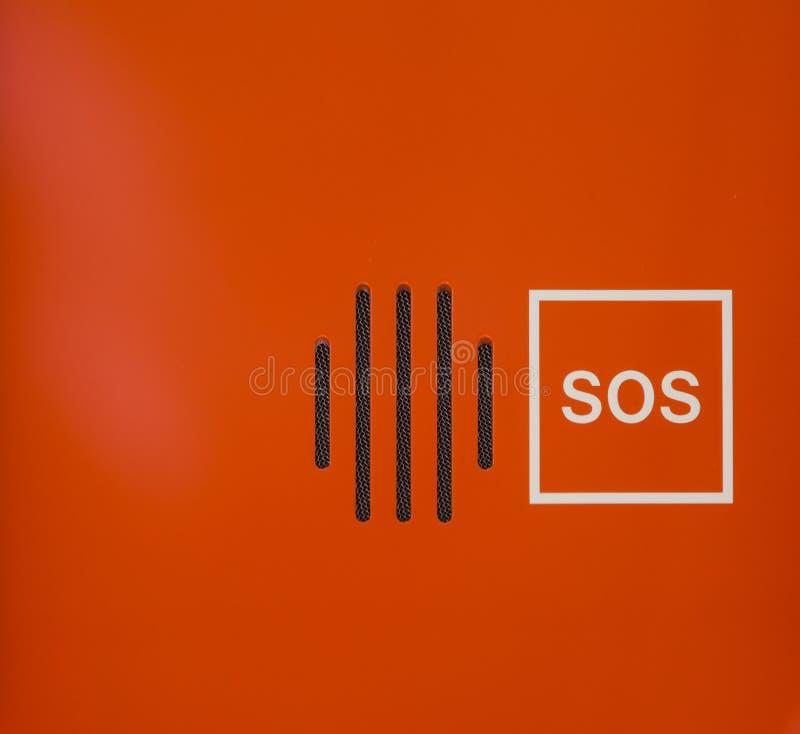 Sprecher-Notvertrags-Gerät der Leuchtorange-abstraktes PAS lizenzfreies stockbild