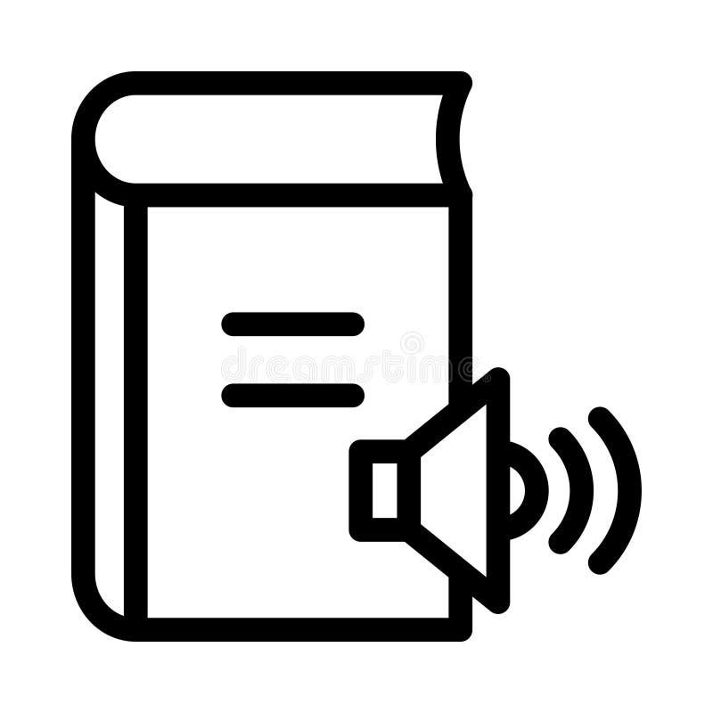 Sprecherbuchikone vektor abbildung