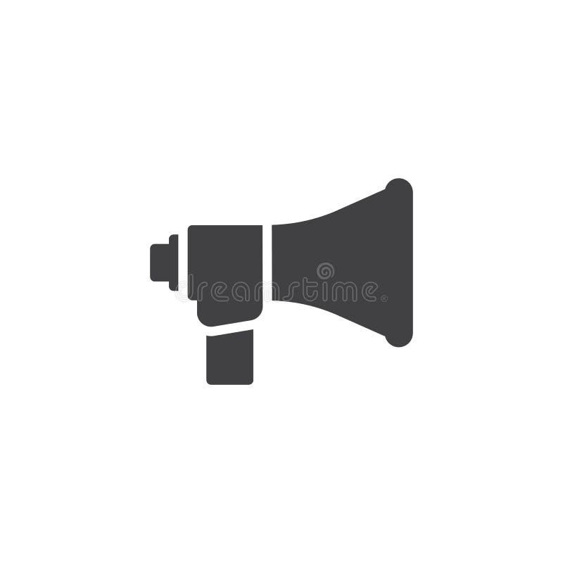 Sprechermegaphon-Vektorikone lizenzfreie abbildung