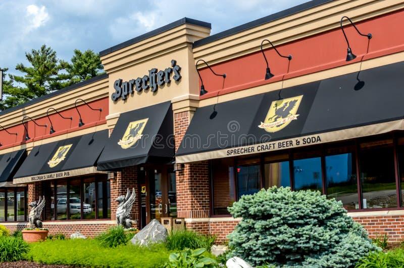 Sprechers restaurang - Wisconsin Dells royaltyfria bilder