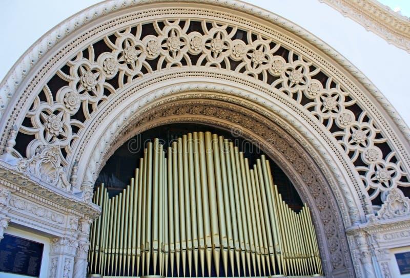 Spreckels organpaviljong arkivbilder