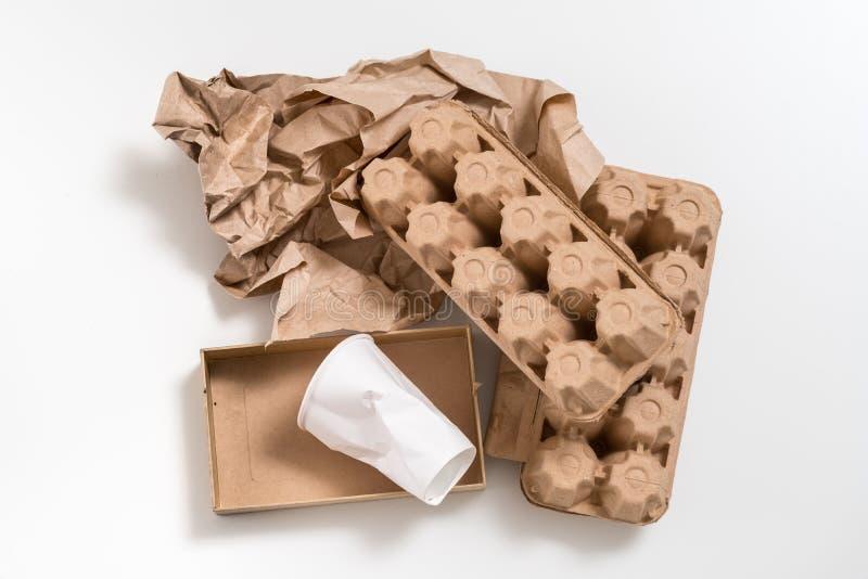 Spreco biodegradabile materiale amichevole di Eco immagine stock libera da diritti