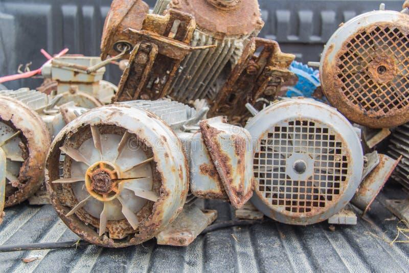 Spreco dei motori elettrici immagine stock
