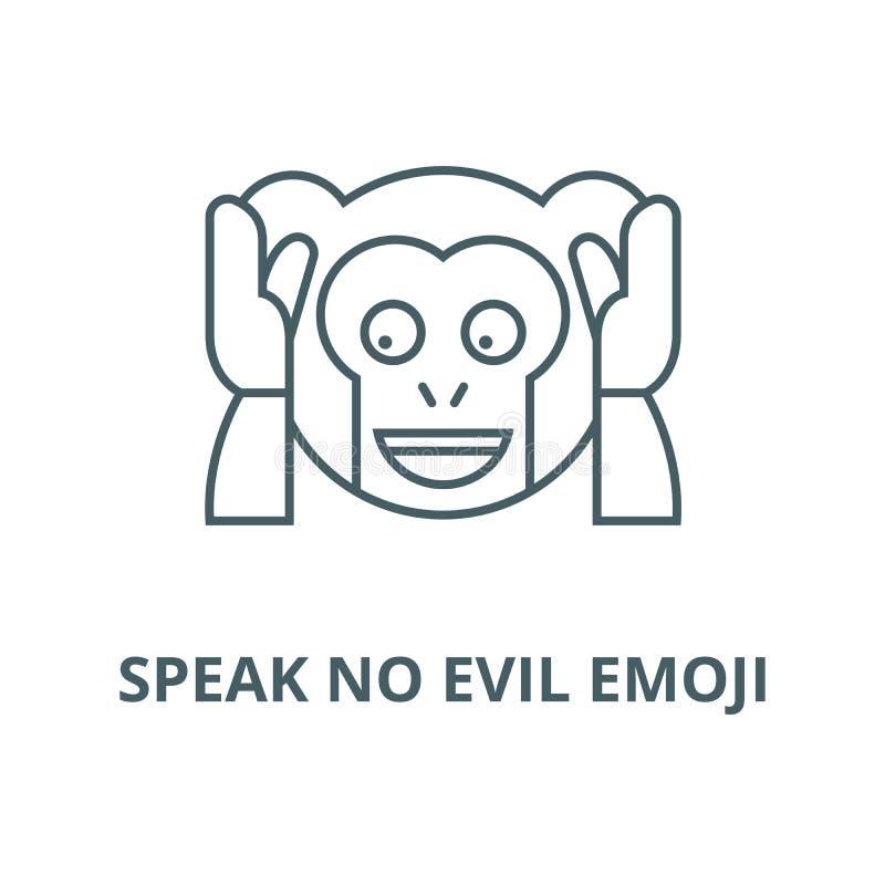 Spreek geen kwaad pictogram van de emoji vectorlijn, lineair concept, overzichtsteken, symbool vector illustratie