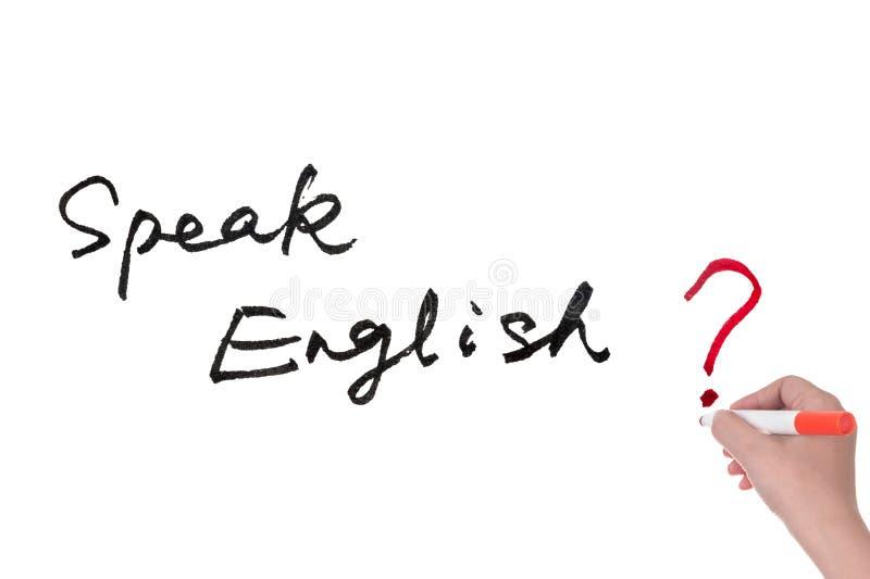 Spreek het Engels? stock afbeelding