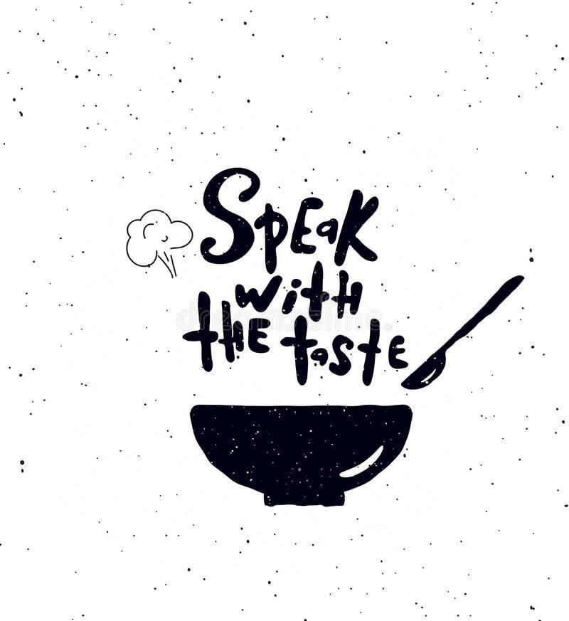 Spreek met de smaak stock illustratie