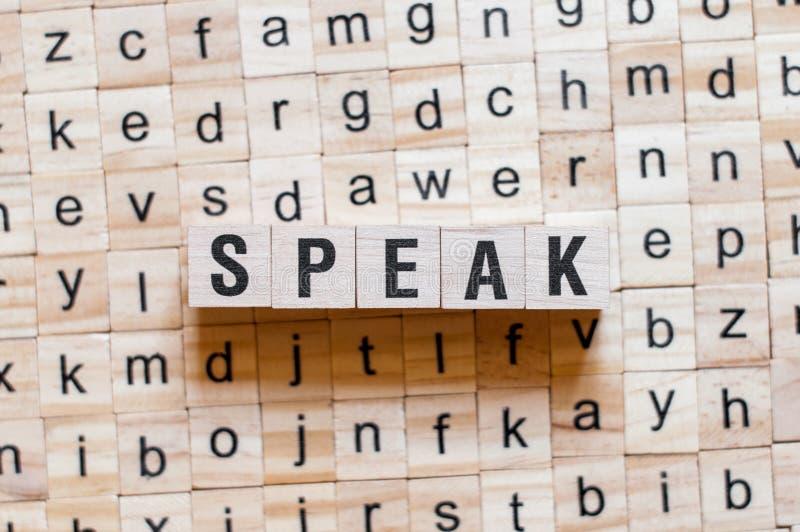 Spreek woordconcept stock afbeelding