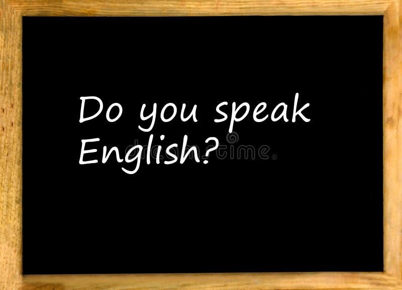 Spreekt u het Engels? royalty-vrije stock fotografie